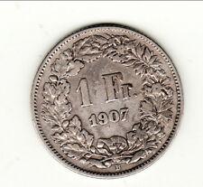SUISSE  1 FRANCS  1907  qualitè !!!