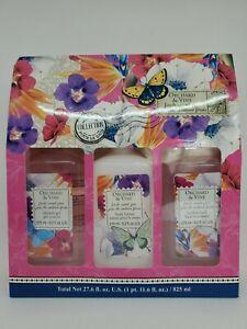 Orchard & Vine Bath Gift Set Fresh Sweet Pea Shower Gel Body Lotion Bubble Bath