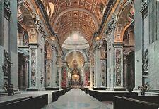 "*Rome Postcard-""Interior of Basilica of St. Peter"" /Vatican/"