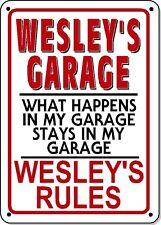WESLEY'S GARAGE SIGN - NOVELTY Polystyrene SIGN GARAGE Man cave