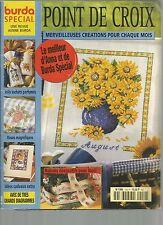 BURDA - POINT DE CROIX N°1550 SACHETS PARFUMES / ROSES / IDEES CADEAUX / NOEL