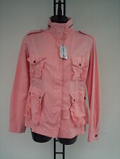 D KNY GIACCA DONNA  IN  COTONE  ROSA TG S C ON RICAMO  DIETRO