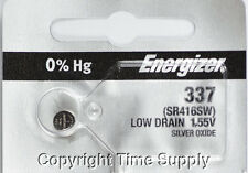1 pcs 337 Energizer Watch Batteries SR416SW SR416 0% Hg