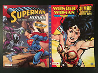 LOT OF 2 - DC Comics SUPERMAN and WONDER-WOMAN JUMBO COLORING & ACTIVITY BOOKS!
