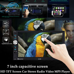 "7""2DIN Bluetooth HD Touch Screen Car Stereo AUX Audio Radio Video FM MP5 Player"