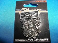 STURGIS 2012  BLACK HILLS MOTORCYCLE RALLY  FAIRY PIN PEWTER LADY BIKER PIN  NEW