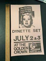 Vtg Original 1980S PUNK / NEW WAVE DYNETTE SET CONCERT FLYER SET LIST #2