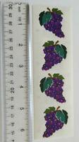 ~ Fruit Grape Apple Strawberries Cherry Lemon GOLD TRIM Mrs Grossman Stickers ~