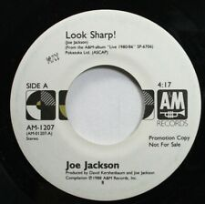 Rock Promo 45 Joe Jackson - Look Sharp! / Look Sharp! On A&M