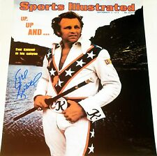 EVEL KNIEVEL HAND SIGNED AUTOGRAPHED 16X20 SPORTS ILLUSTRATED PHOTO! RARE! PROOF