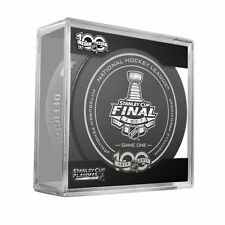2017 STANLEY CUP FINALS OFFICIAL GAME 1 HOCKEY PUCK PITTSBURGH vs NASHVILLE