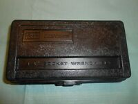 "VINTAGE 2 HINGE ""CRAFTSMAN SEARS, ROEBUCK & CO."" 1/4in. SOCKET RATCHET CASE BOX"