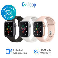 Apple Watch Series 5 Aluminium - 40mm 44mm All Colours - Black Sport Band