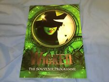Wicked The Musical London Programme 2017 Alice Fearn and Sophie Evans