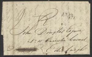 1825 TransAtlantic SFL, Montreal to Scotland, Privately Carried to Greenock