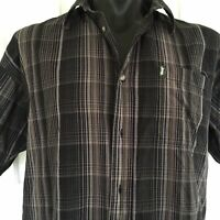 Jeep Grey Mens Short Sleeve Button Up Shirt Size L Classic Collection 2012