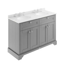 Old London Storm Grey 1200mm Cabinet & Double Marble Top (3TH) - Code: LOF267