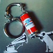 UNIQUE Cool BUDWEISER KEYRING miniature CAN drink LAGER pint KEYCHAIN pub BUD