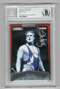 2008 Tristar TNA Cross The Line Sting Auto Signed Card #82 Beckett Certified BAS