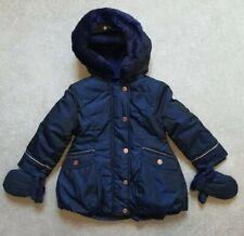 Ted Baker Babys Girls Coat/ Jacket Shimmery Navy Blue Age 18-24 Months