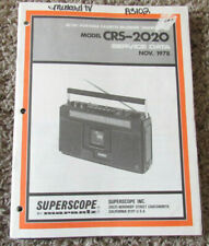 New listing Marantz Superscope Crs-2020 Cassette Original Service Repair Manual