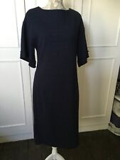 long Navy Jackie O Style Dress With Side Slpit. By Oilily Made In Italy Size 16