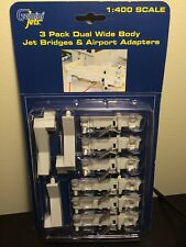 WIDE BODY DUAL JET BRIDGES GEMINI JETS AIRPORT 3 piece Set GJARBRDG2 NEW 3 PACK