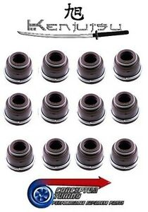 Set 12 Valve Stem Oil Seals Exhaust & Intake - For Mitsuoka S1 Galue I RB20E
