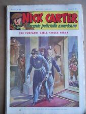 Nick Carter Il Grande poliziotto americano Anni 40 n°21 ed. NERBINI  [G369]
