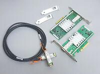 10G Netzwerk Kit 2x Intel X520-DA1 10 Gigabit NIC GBe + 3m SFP+ Kabel Cisco 10gb