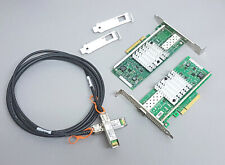 B-WARE 10G Netzwerk Kit 2x Intel X520-DA1 10 Gigabit NIC GBe + 3m SFP+ Kabel