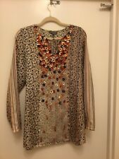 SACHIN+BABI for Ankasa Womens Tunic Top , Silk , Size L .