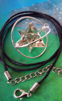 SPINNING SMOKY CRYSTAL QUARTZ MERKABA STAR CAGE PENDANT NECKLACE WITH CHAIN