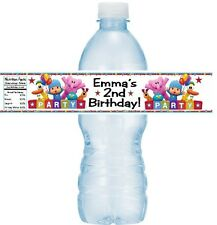 12 Pocoyo Birthday Party Water Bottle Stickers Labels Favors Elly Pato Loula