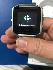 Fitbit Blaze Smart Fitness Watch Auto Sleep HR Activity Tracker Blue Good Condit