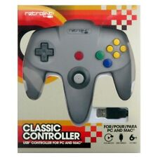 Retrolink Nintendo 64 Style Classic USB Controller (Grey) for PC and Mac