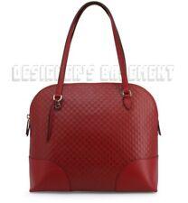 GUCCI red MICRO GUCCISSIMA medium Dome BREE Top Handle shoulder Bag NWT Authentc