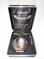 ZIPPO RARE CHRONOGRAPH POCKET WATCH UNUSED FULL WORKING ORDER NEW BATTERY