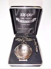 Zippo rare Chronographe Montre De Poche Inutilisé parfait état de fonctionnement batterie neuve
