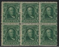 US Stamps - Scott # 300 - Block of 6 - Mint Never Hinged                 (D-190)