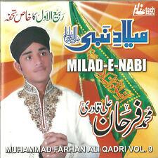 MUHAMMAD FARHAN ALI QADRI VOL 9 - MILAD - E - NABI - BRAND NEW NAAT CD
