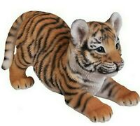 Tiger Baby Playing Realistic - Life Like Figurine Statue Home / Garden New Cute
