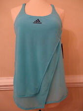 Georgeous XS Adidas Melbourne Tennis Golf Tank Top Shirt Samba Blue Glow Orange