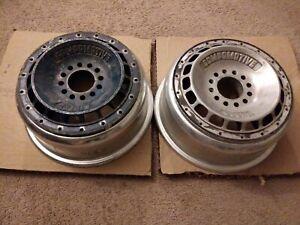 "2) Compomotive Turbo Wheels centerlock 13"" pair rare vintage oldschool jdm rims"