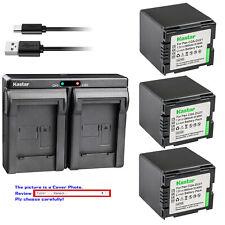 Kastar Battery Dual Charger for Panasonic CGA-DU21 CGR-DU21 & NV-GS230 NV-GS250