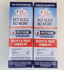 Lot of 2 Bugband Bed Bugs No More! Natural Detect/Treat Combo Kits w/ 2 oz Spray