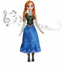 """NEW Disney Store Anna 16"""" Doll Singing For The First Time Frozen RARE NIB MUSIC"""