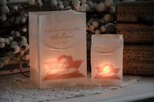 Lichtertüte Windlicht Lichttüte groß Engel Shabby Chic Weihnachten Landhaus