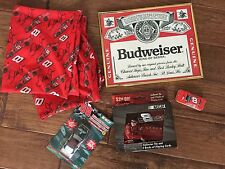 Nascar Dale Earnhardt Jr Book covers, Cards, Tins, Picture frame BUDWEISER, more