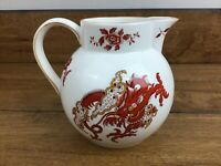 Vintage Crown Staffordshire England Rangoon 5 Inch Ball Pitcher